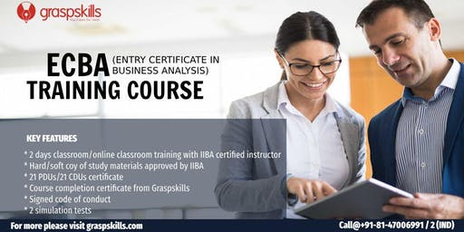 Entry Certificate in Business Analysis (ECBA) Training - Chennai,India