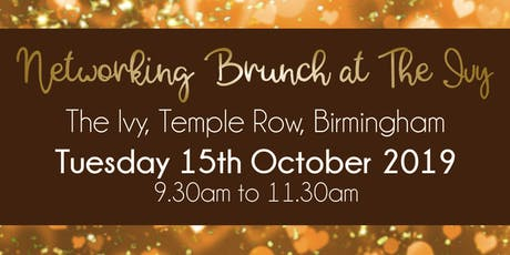 Birmingham #LoveBiz Brunch Networking Event at The Ivy tickets