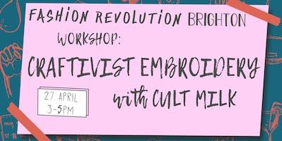 Craftivist Embroidery Workshop with CULT MILK