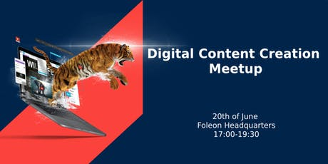 Digital Content Creation Meetup tickets