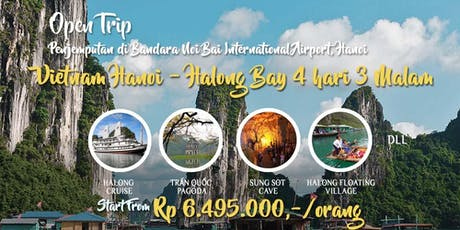 Open Trip Vietnam Hanoi - Halong Bay 4 hari 3 Malam tickets