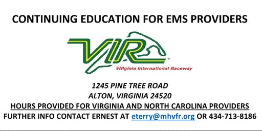 VIR Continuing Education For EMS