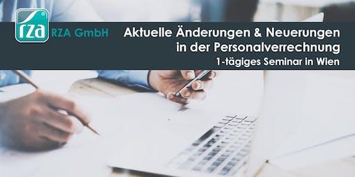 Aktuelle Änderungen & Neuerungen in der Personalverrechnung - 1-tägiges Seminar in WIEN