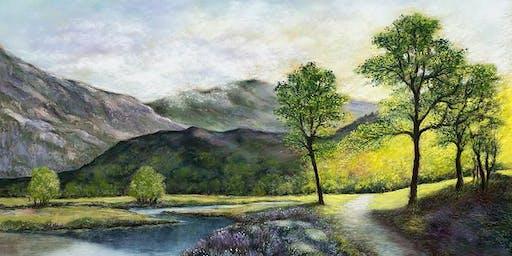 Eisteddfod 07/07 Paul Pigram - Paentio: Mynyddoedd | Painting: Mountains