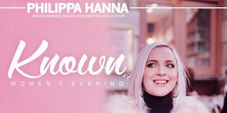 Philippa Hanna 'Known' Tour '19 (Women's Evening) tickets