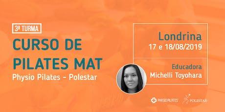 Curso de Pilates Mat - Physio Pilates Polestar - Londrina ingressos