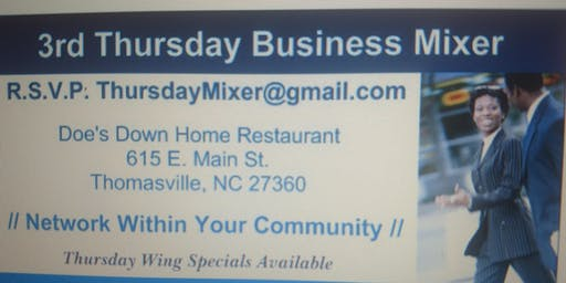 3rd Thursdays Small Business Networking