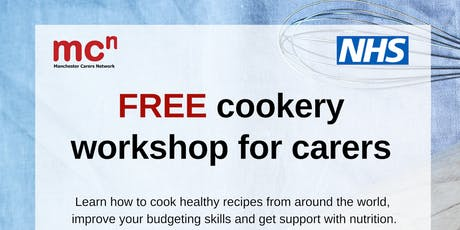 Cookery - FREE workshop for Manchester carers tickets