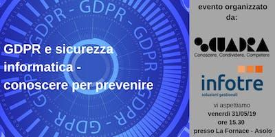 GDPR e sicurezza informatica - conoscere per prevenire
