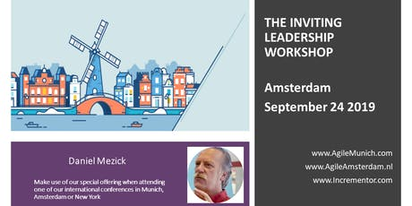 Inviting Leadership Level 1 Certification   Sept 24 in Amsterdam by Daniel Mezick tickets