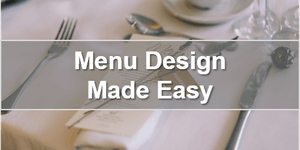 Menu Design Made Easy - Webinar