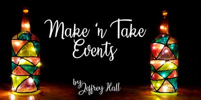 Make N Take Event - Upcycled Stain Glass Bottles