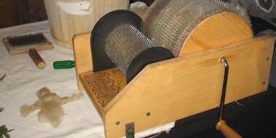 Laboratorio di cardatura della lana al Mercato Ritrovato!