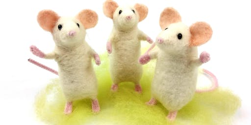 Needle Felt Pose-able Party Mouse