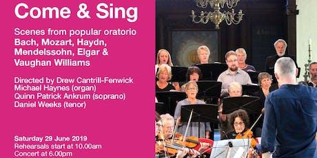 Come & Sing Oratorio tickets