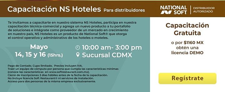Imagen de CDMX - Capacitación NS Hoteles para Distribuidores
