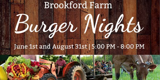Burger Night at Brookford Farm