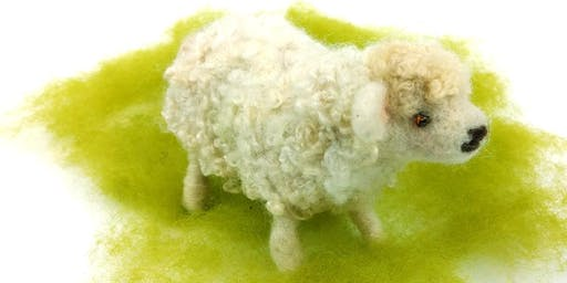 Needle Felt a Cute Curly Sheep