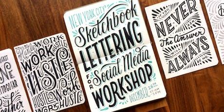 Sketchbook Lettering for Social Media tickets