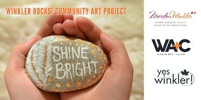 Winkler Rocks! Community art project