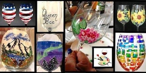 Wine Glass Painting Fundraiser - Mill City Odd Fellows