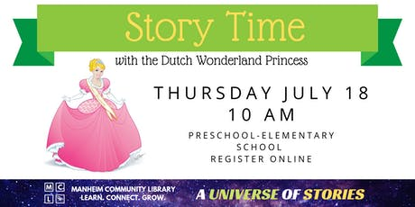 Story Time with the Dutch Wonderland Princess tickets