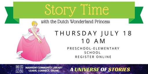 Story Time with the Dutch Wonderland Princess