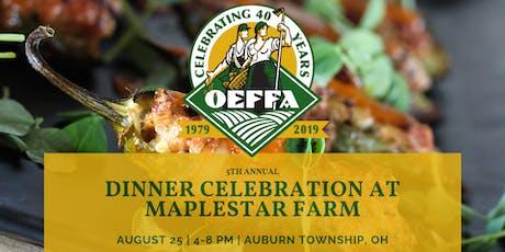 5th Annual Dinner Celebration at Maplestar Farm tickets