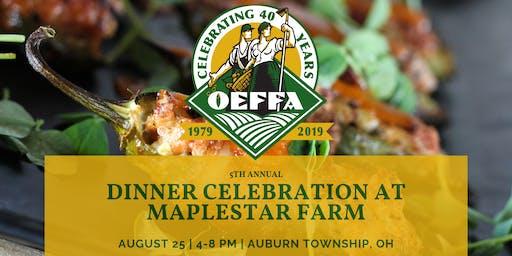 5th Annual Dinner Celebration at Maplestar Farm