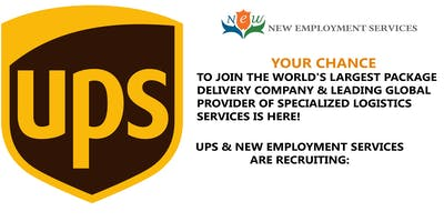 UPS Hiring Event - Multiple Openings