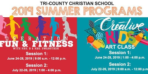 2019 Summer Programs at Tri-County Christian School