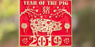 2019 The New Year Running/Walking Challenge-Year of the Pig -Boise