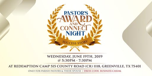 Pastors Award and Connect Night 2019