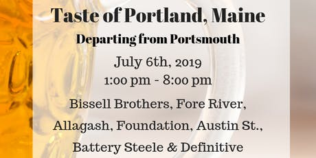 Taste of Portland, Maine - Beer Tour 7/6 tickets