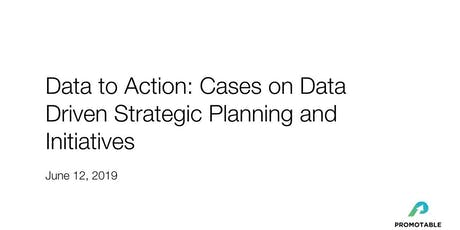 Data to Action: Cases on Data Driven Strategic Planning and Initiatives  tickets