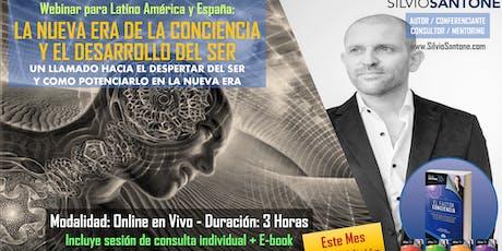 Webinar Online: ESPIRITUALIDAD EN LA NUEVA ERA DE LA CONCIENCIA entradas