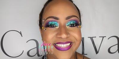 Glitter Boss Makeup for Miami Carnival 2019