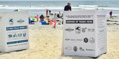 Clean Beach Coalition Bin Assembly for Memorial Day