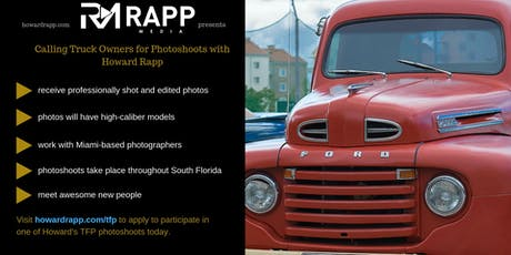 Use Your Truck in Professional Photoshoots tickets