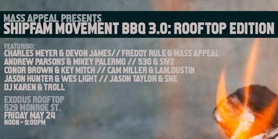 Mass Appeal Presents: B2B BBQ - Detroit Kick-Off Party at Exodus Rooftop