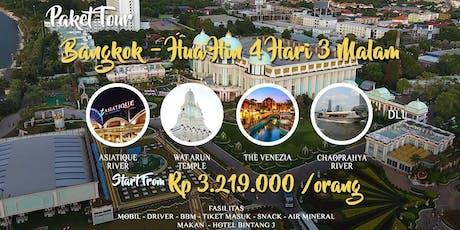 Paket Tour Bangkok - Hua Hin 4 Hari 3 Malam tickets