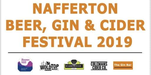 Nafferton Beer Cider Gin Festival 2019
