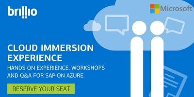 Cloud Immersion Experience: SAP on Azure Workshop at Microsoft Cleveland