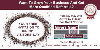 BNI Referral Marketing Visitors Day Norwich