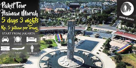 Paket Tour Hainan Murah 5 hari 3 malam start Jakarta tickets