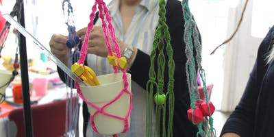 Macrame Plant Hangers at Lindley Craft Fair, Manor House