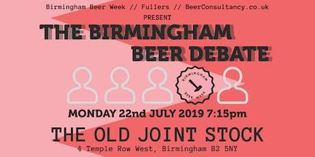 The Birmingham Beer Debate tickets