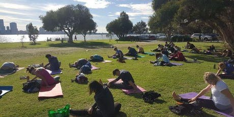 Twilight Hatha Yoga by the River tickets