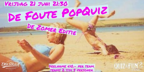 De Foute PopQuiz, zomer editie tickets