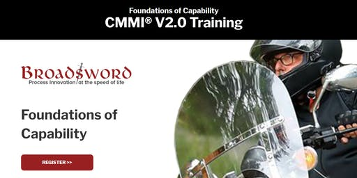 CMMI V2.0 Training:Foundations of Capability + Building DEV Excellence - DC Area